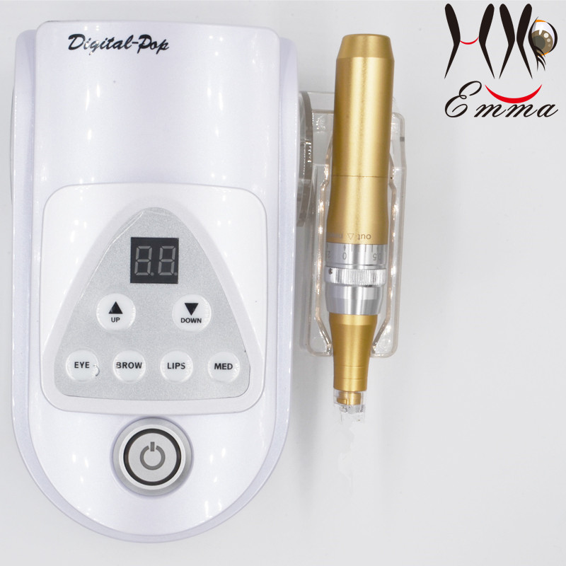 High quality cartridge microneedle POP Digital Permanent Make up Machine system for face tattoo ink