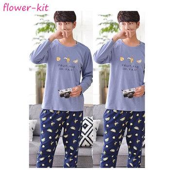906a7fee50293 Домашняя страница повседневная мужская одежда для сна ночные рубашки,  хлопковые зимние пижамы с длинными рукавами