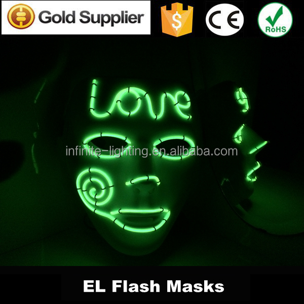 El Wire Light Up Led V For Vendetta Anonymous Guy Fawkes Costume ...