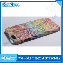 high quality PU leather material imd rainbow printing phone case