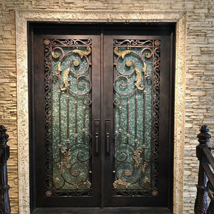 Chinese knot style stainless steel doors for exterior.MS-1501