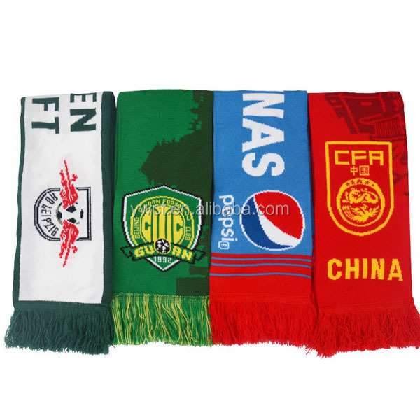 Yiwu Scarf Market European Football Fans Knitted Scarf Soccer Sports Scarf