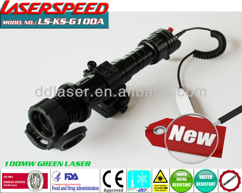 HUNTNG LASER DESIGNATOR/subzero outdoor long distance hunting rifle mounted 100mw green laser scope light