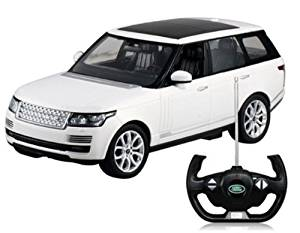 RASTAR 49700 1:14 Scale Authorized Land Rover Range Rover RC Car Model (White) by International