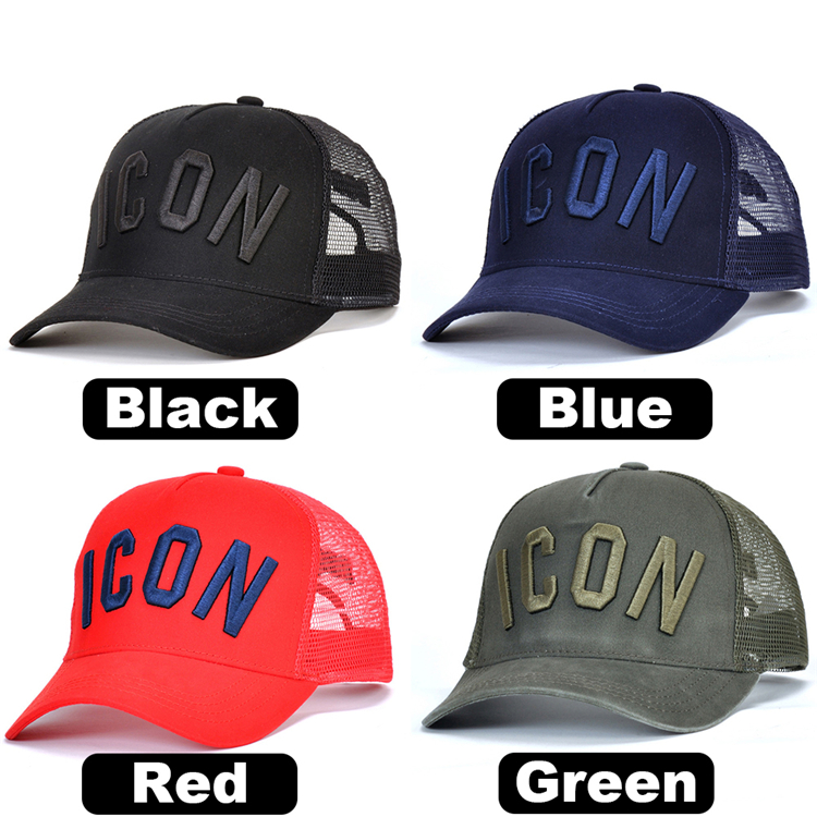 Top One 6 Panel Mesh Baseball Cap/Trucker Hat dad sport  custom  hat with custom logo print sun beach hat manufacturers