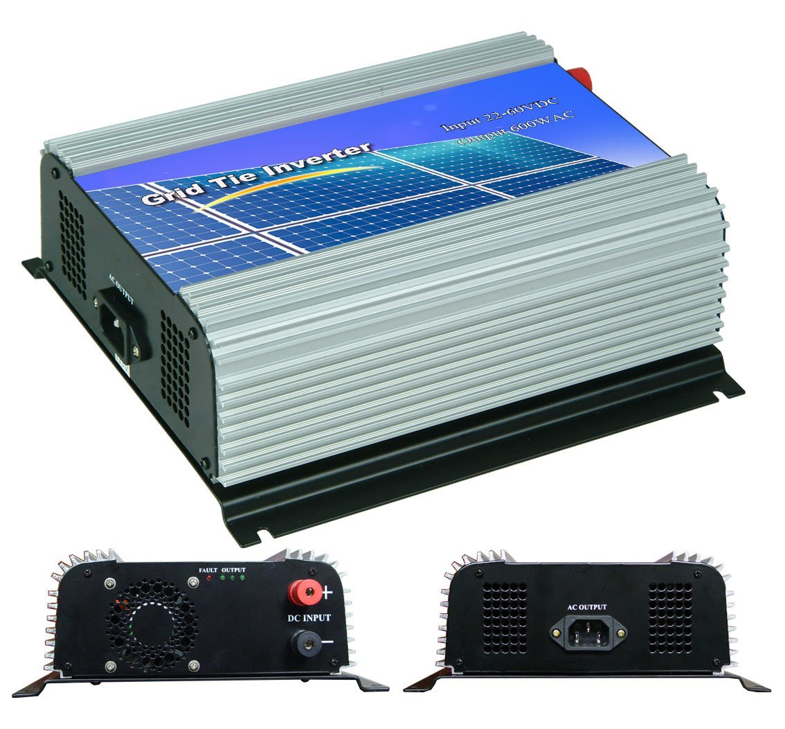 DECEN 600w High Efficiency On Grid Tie Inverter Output Pure Sine Wave, 22-60vdc,110vac,60hz for Home Solar System