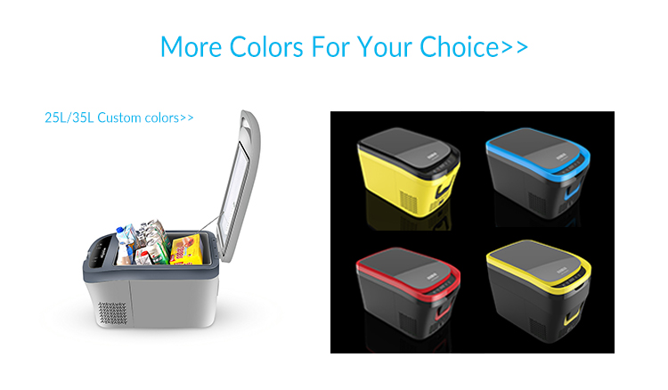 hot sale 35L/25L portable car refrigerator for Outdoor and Home fridge freezer 12V/24V  AC100V-240V car compressor fridge 12v