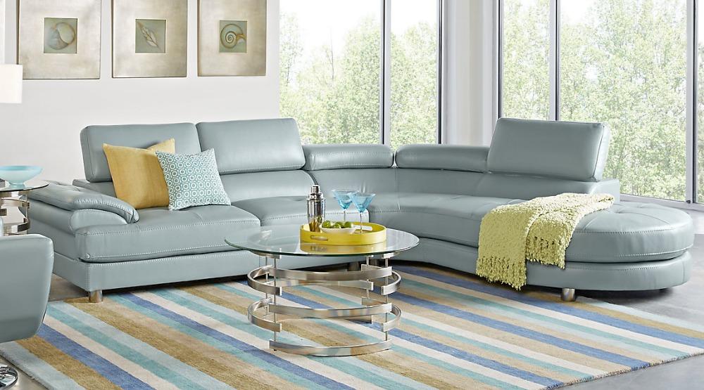 Nieuwe stijl moderne lederen sofa met rvs benen hotel banken product id 60535347112 dutch - Moderne lounge stijl ...
