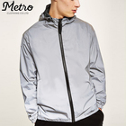 Custom mens oversized fit 3M reflective track windbreaker jackets
