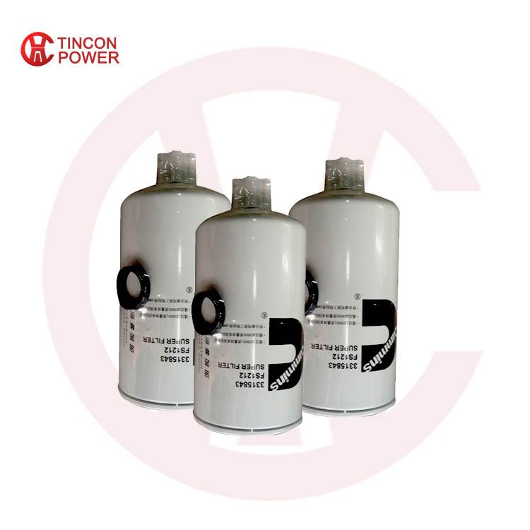 Filtro de combustible diesel 3315843 fs1212 para Cummins
