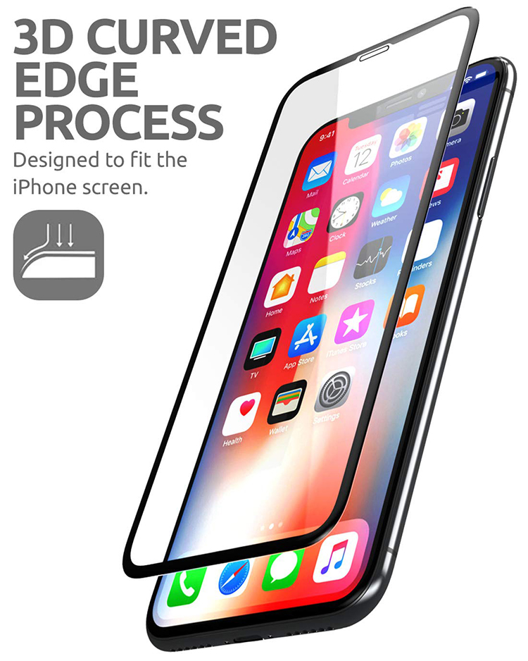 2018 new premium 9H full liguid glue adhesive 3D tempered glass screen protector for iPhone X
