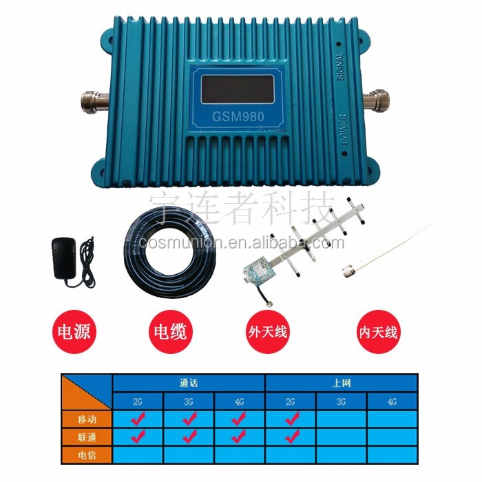 GSM900 DCS1800 WCDMA2100 PCS1900 cellular mobile signal booster