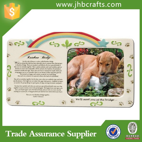 Pet Memorial Resin Moving Animal Picture Frame - Buy Photo Frames ...