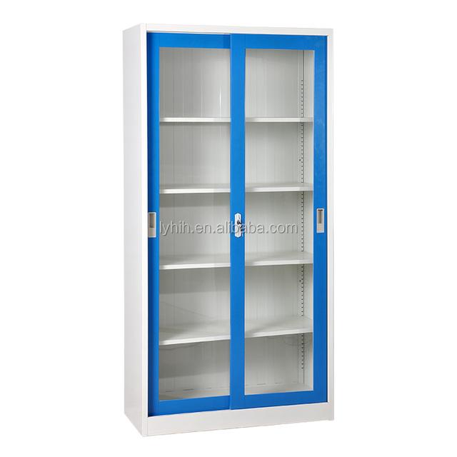 Factory Price Steel Book Cupboard Glass Door Cabinet