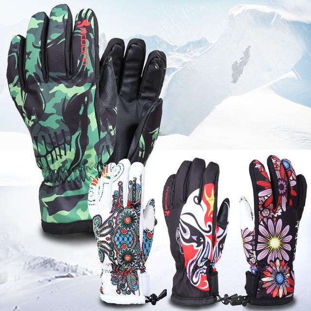 Oem/odm Custom-made Wholesale Women Men Ski Gloves Snowboard ...
