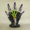 5pcs Non stick kitchen knives with scissor and stand