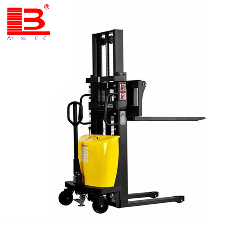 1 ton 2ton 1.5 ton 1.6m 2m 3m Straddle Hydraulic Hand Lift Manual hand Stacker forklift with Adjustable fork