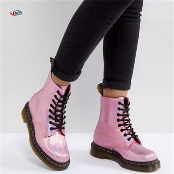 Leather Holographic Pink Lace Up Boots Winter Clear Jelly Boots For Girls ,  Buy Boots For Girls,Clear Jelly Boots For Girls,Winter Boots For Girls