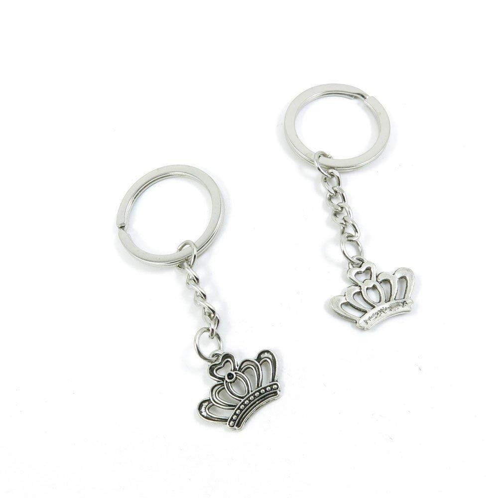 1 Pieces Keychain Door Car Key Chain Tags Keyring Ring Chain Keychain Supplies Antique Silver Tone Wholesale Bulk Lots U6UI4 Crown