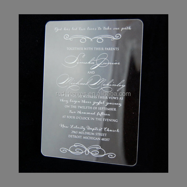 Custom Mirror Acrylic Wedding Invitations For Party Decorate