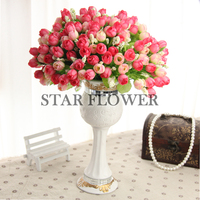 AMRF20170303018 Artificial silk mini star rose flower bouquet table wedding decoration artificial flowers