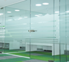 Single glass modular office partitions cubicle panels temporary wall dividers