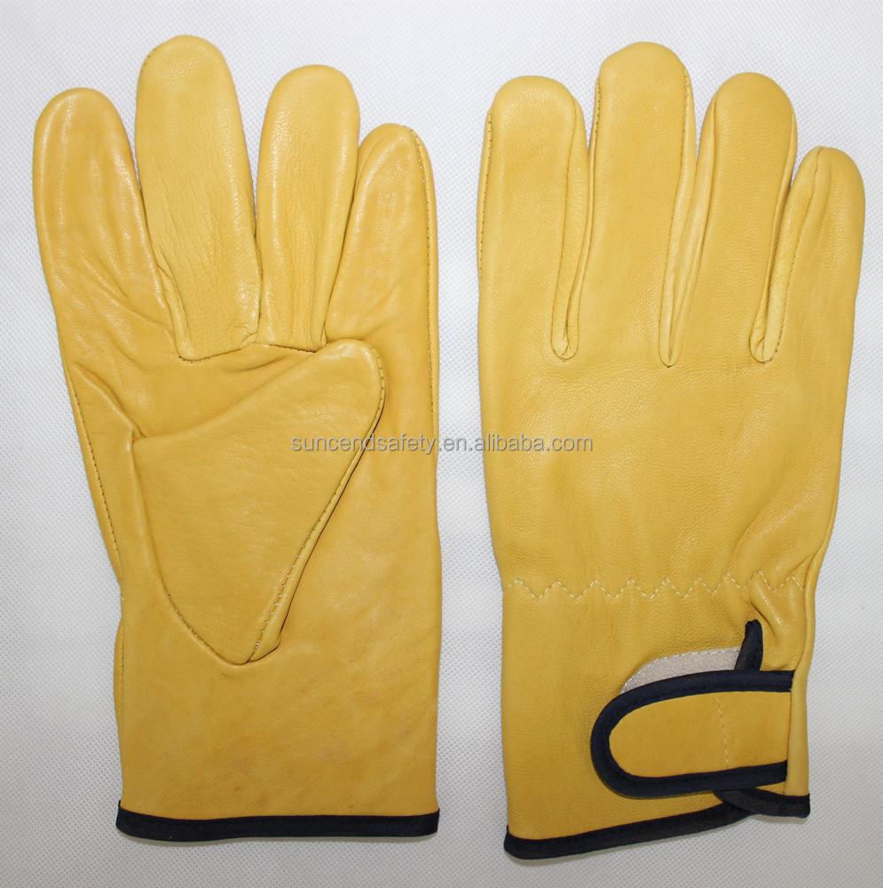 FREE SHIPPING! Winter Thinsulate 100gram Grain Leather Work Glove
