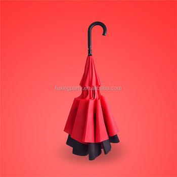 a6b2c16b5a28 Fuxing Brand Germany Technol Creative Double Reverse Umbrella,Long Handle  Men And Women,Sunny Umbrellas Outdoor Umbrella Car - Buy Reverse ...