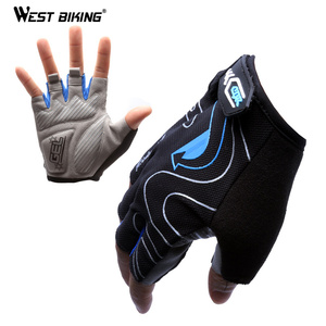 WEST BIKING 3D Gel Sport Gloves Summer Breathable Unisex Road Mountain Half Finger Cycling Gloves