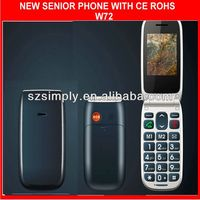 unlocked cell phone with big button sos. flip design