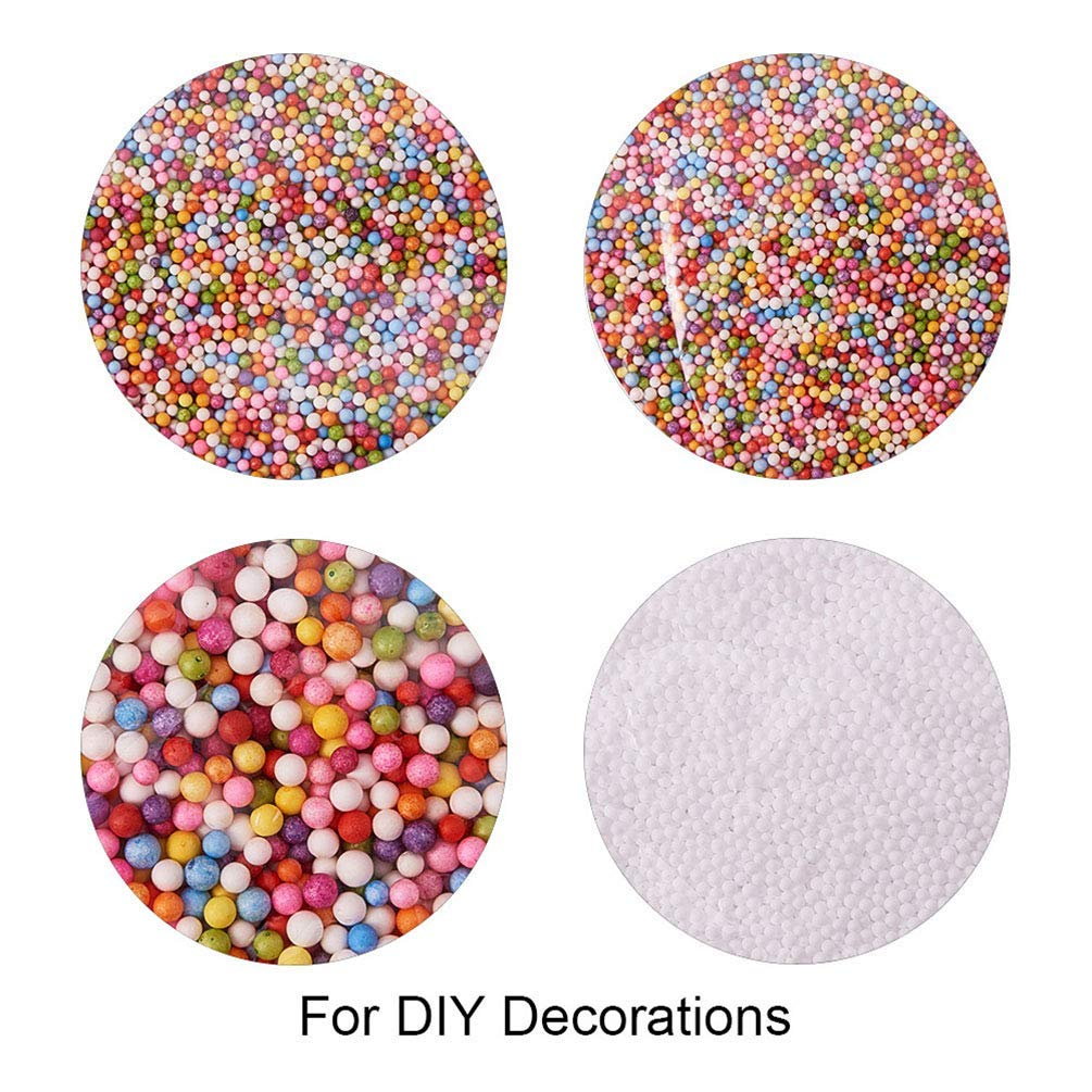 RGANT Colorful Floam Balls Beads Bubbles Spheres Filler for Wedding Party Decoration DIY Craft-4 Packs
