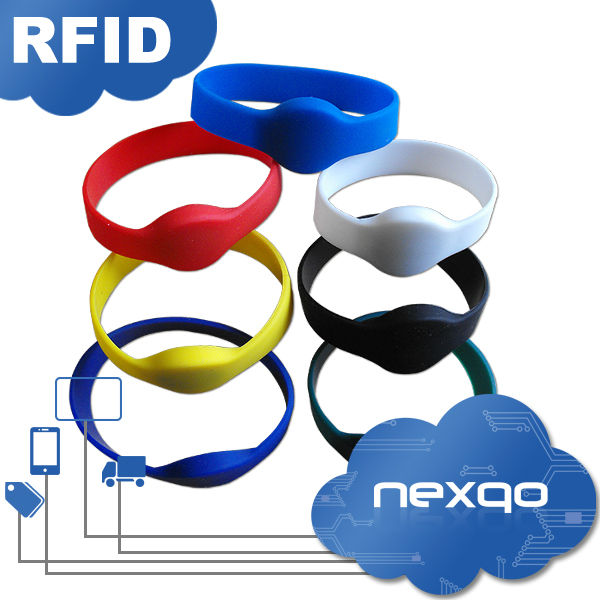 RFID wristband tag/bracelet tag /Waterproof Adjustable silicone tag for swimming pool