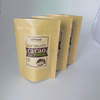 kraft window pouch stand up zipper lock packaging bags / china food grade kraft paper bags for fried dough sticks