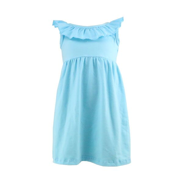 Wholesale children frocks designs baby girls sleeveless chest with ruffle unique kids dresses