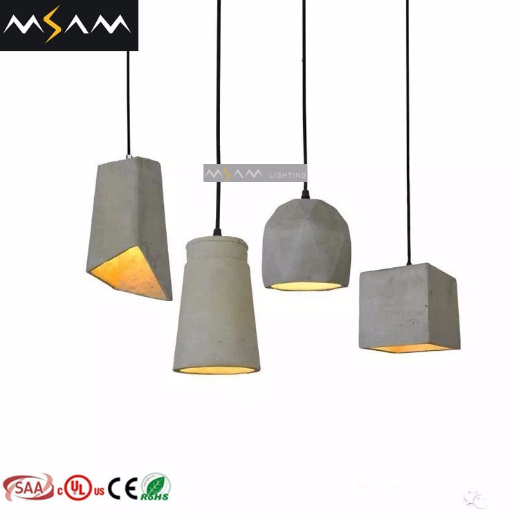 Concrete Indoor Pendant Light Decorative Hanging Lights