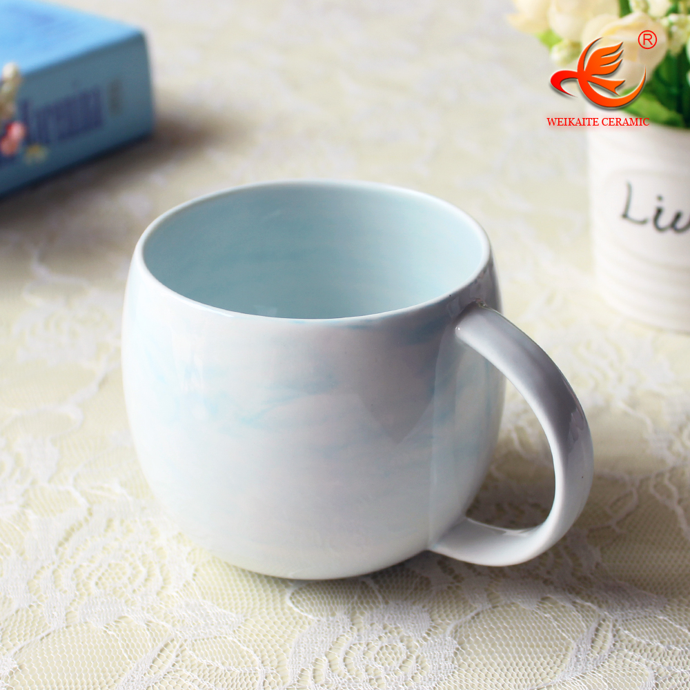 WKTM001MB Marble color fine bone china cups and custom mugs cup