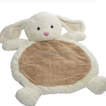 New design educational toy super soft teddy bear plush baby animal mat