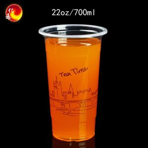 disposable drinking cups to go cold beverage juice cup plastic