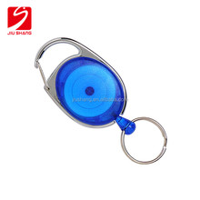 Personalized cheap valet retractable ps plastic key holder custom key ring clip wholesales