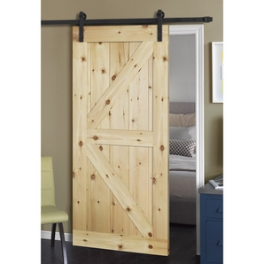 36 In. X 84 In. Rustic Unfinished 2 Panel V Groove Left Knotty Alder Wood Barn  Door With Bronze Sliding Door Hardware   Buy Knotty Alder Wood Barn Door  Slab ...