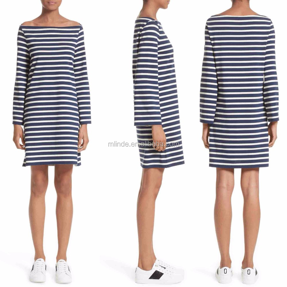 Plus Size Stripe Dress for Fat Ladies Clothing Wholesale Custom Manufacturer Striped Bandage Dresses