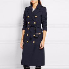 China wholesale custom dongguan anly apparel women classic wild solid color waist long coat