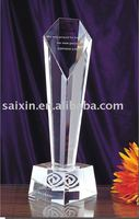 beautiful crystal trophy and crystal crafts