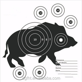 15cm Shooting Archery Target Paper Air Rifle Pistol Gun BB Airsoft Paper Targets