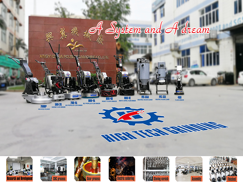 Concrete,Marble floor grinding and polishing machine