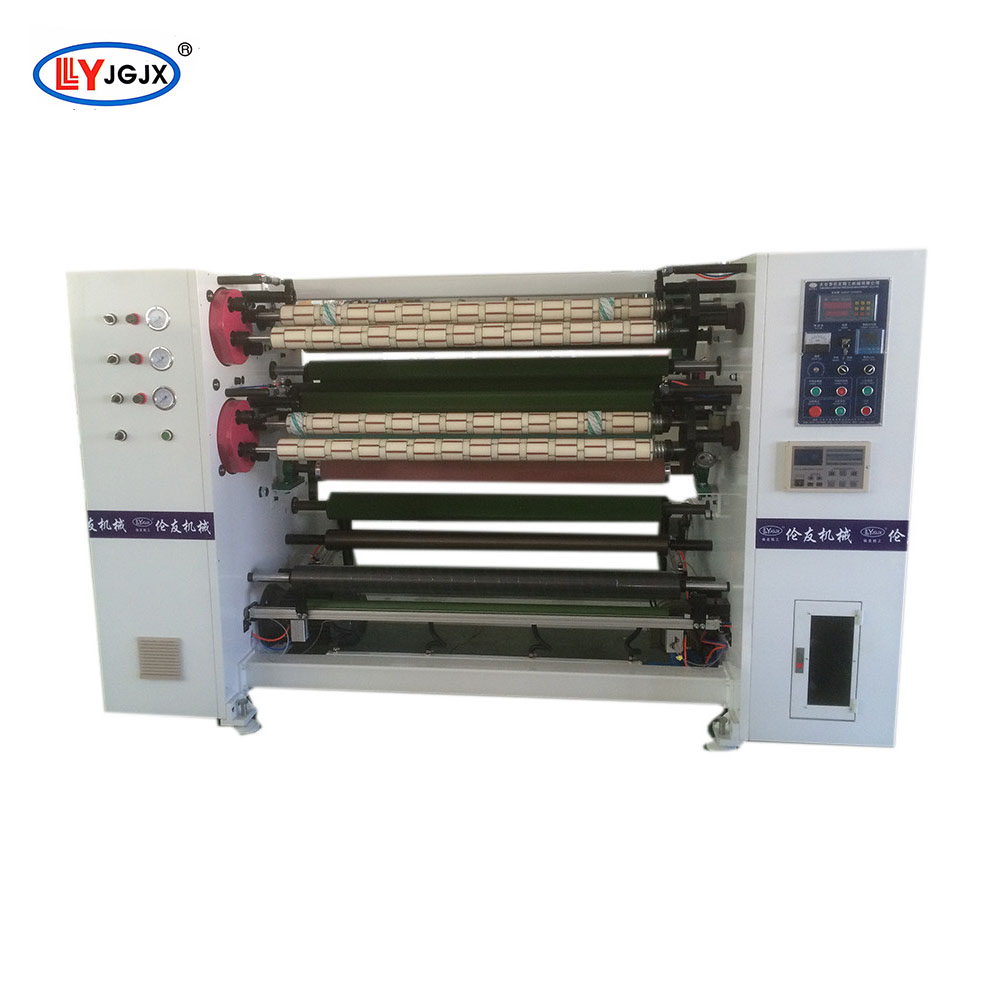 LY-218 adhesive jumbo roll tape slitting machine/cork tape slitter/electric tape slitter rewinder