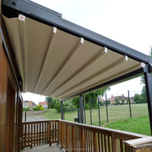 Aluminum diy double sided retractable awnings