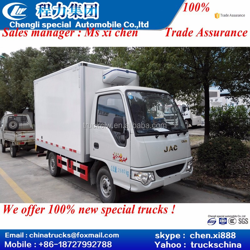 CLW 4x2 JAC jianghuai JAC LHD refrigerated truck ice cream van for hot sale