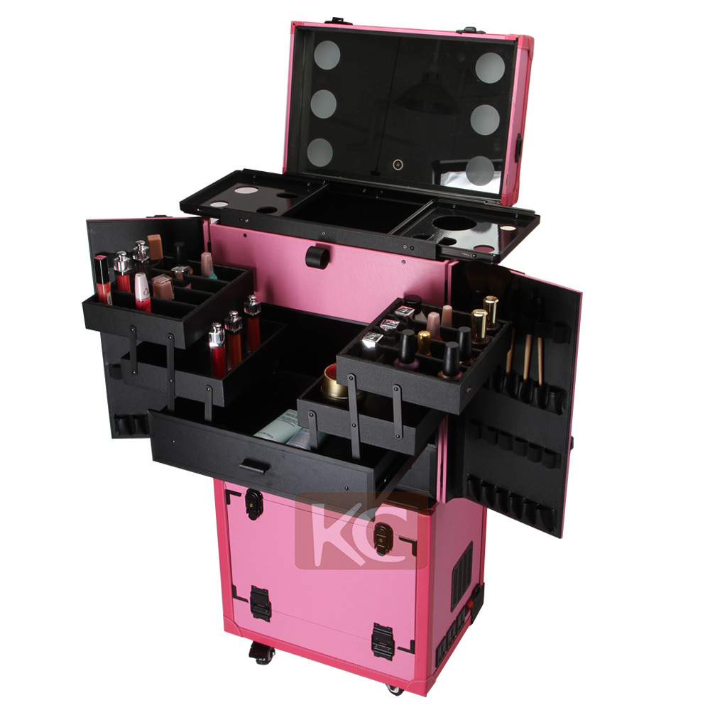 International Makeup Lighted Case With Drawers Hairdresser