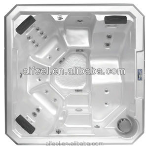 Jetted Acrylic spa tub ABS/ Acrylic Fiber Spa Tub with rotating jets spa s